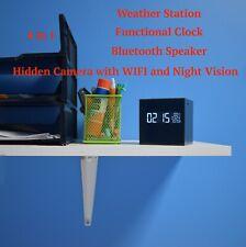 Camera Speaker Hidden 1080p WIFI Bluetooth HD Spy Wireless Night Vision Audio