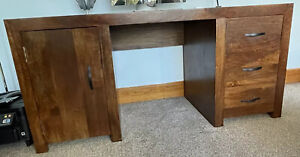 Solid Wood Desk Wooden Home Office Mango Sheesham 100% Real Wood