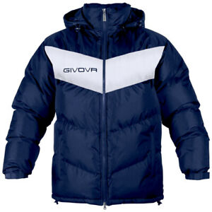 Givova XS Blue/White Football Substitution Jacket Manager Subs Coat