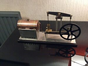 Live Steam Beam Engine And Boiler ,uses Mamod ,wilesco fuel