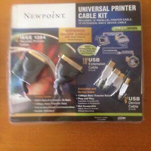 NEW: UNIVERSAL PRINTER CABLE KIT: NEWPOINT CBL/120