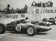 "LOTUS JIM CLARK 1963 French Grand Prix G HILL BRM Schlegelmilch 7x9"" Photo Print"