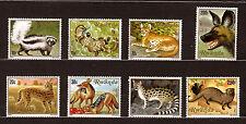 RWANDA- Serie nuevos Nº 1035-1042 Gatos y canidae salvaje del paíS E70