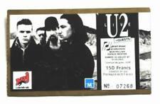 U2 billet ticket concert FRANCE Montpellier 18/07/1987 Rare !