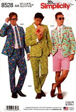 Simplicity Sewing Pattern 8528 Mens Costume Suit Cosplay Size 34-42