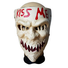 The Purge 3 Kiss Me Resin Scary Mask Horror Halloween Fancy Cosplay Prop Party