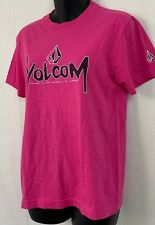 Volcom Womens T Shirt Pink Crewneck The Dynamics Of Change Size Small