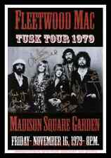 "Framed Vintage Style Rock n Roll Poster ""FLEETWOOD MAC TUSK TOUR 1979""; 12x18"