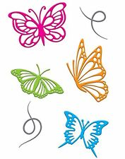 Butterflies Set Die Cutting Dies & Magnetic Storage Binder LITTLE B 102272 New