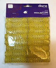"16-Pack Mesh Rollers 11/16"" diane By FROMM D538 Yellow/Amarillo Made In Italy"