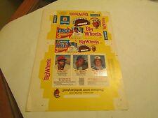 Hostess Big Wheels Baseball Trading Cards Box (Scott, Campaneris, Messersmith)