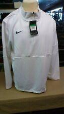 Nike Men's Therma 1/4 ZIP Long Sleeve Jacket White AO5919-100 Dri-Fit