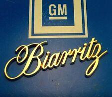 NEW BIARRITZ 79 85 24K GOLD TRUNK NOS EMBLEM ORNAMENT E&G VOGUE WIRE WHEELS