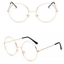 Stylish Clear Lens Glasses Small Circle Round Frame Blue Light Blocking 1Pc