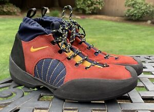 NOS Deadstock 1995 Nike ACG Half Dome India Red Yellow Ochre Shoes 10.5