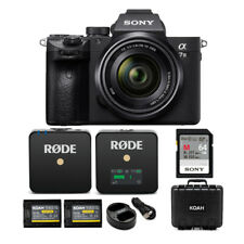 Sony Alpha a7 III Mirrorless Camera with 28-70mm Lens and Wireless Mic Bundle