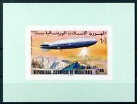 451153) Mauretanien Block mit Nr. 544 B **, Zeppelin
