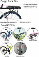 Portaequipajes trasero de aluminio ligero para bicicleta  (NUEVO)