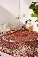 Indian Doona Mandala Hippie Bohemian Blanket 1 Tapestry+ Duvet Cover+ 2 pillow
