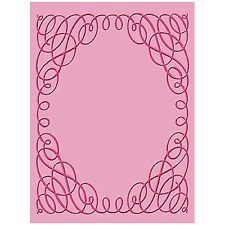 SCROLLWORK Embossing Folder For Cricut Cuttlebug Die Cut Embossing Machine ~ NEW