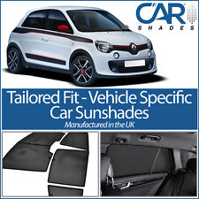 Renault Twingo 5dr 2014> UV CAR SHADES WINDOW SUNBLINDS PRIVACY GLASS TINT BLACK