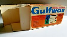Gulfwax Household Paraffin Wax 1 lb. Box 4 Cakes Canning Seal Candles Gulf Oil