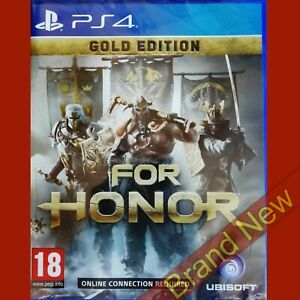 FOR HONOR GOLD EDITION - PlayStation 4 PS4 ~PEGI 18 - NEW Re-sealed
