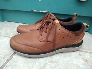Men's CLARKS Brown Leather Cushion Sole Shoes size UK 7 G / EU 41