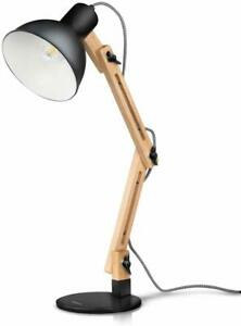 Tomons Adjustable Swing Arm Desk Wood Lamp Scandinavian Drafting Light