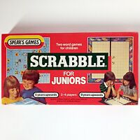 Scrabble for Juniors (Vintage Word Game, 1983 Spear's Games) Complete