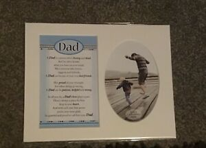 Dad Keepsake Photo Mont With Verse. Size 8x10 Inches