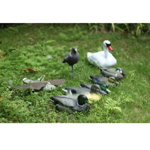 Floating Mallard Duck/ White Swan Decoys Hunting Shooting Fake Bird Decoy UK