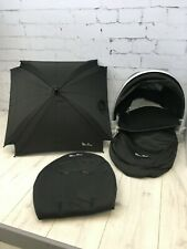 silver cross surf 1 Essential  Pack Black inc Hood,Apron,Seat Liner,& Parasol