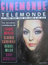 CINEMA ROSANNA SCHIAFFINO MOREAU CARDINALE WELCH SCHNEIDER N°1802 CINEMONDE 1969