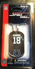 PEYTON MANNING Dog Tag Necklace Sports Tagz Stainless Steel Indianapolis Colts