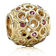 "Genuine Pandora 14ct. Gold Charm ""Celtic Circles""  - 750811TPK - retired"