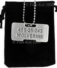 Wolverine Origins Dog Tag ID Necklace Brushed Steel Marvel X-Men Jame Logan
