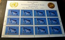 United Nations Scott# 816 Noble Peace Prize-United for Peace 2001 Mnh L218