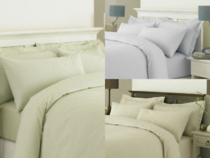 100% EGYPTIAN COTTON 200 THREAD COUNT STRIPE CAMBRIDGE DUVET SET QUILT BEDDING