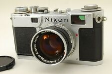 EXC+++++ Nikon S2 Black dial Rangefinder Film Camera w/s.c 5cm f1.4 from JP #521