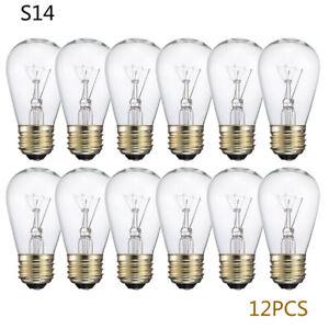 Vintage Retro 12x E27 Screw cap S14 11W Bulbs For Festoon String Lights Lighting