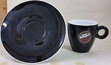 1 TAZZINA da Caffè + 1 PIATTINO Caffè VERGNANO 1882 NERO DA COLLEZIONE