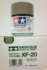 Tamiya acrylic paint. XF-20 Medium Grey, 23ml.