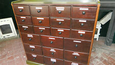 ANTIQUE MAHOGANY APOTHECARY CHEST OF DRAWERS/BANK OF DRAWERS