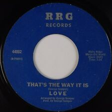 LOVE: That's the Way It Is RRG Northern XO Sweet Soul 45 Super VG+ HEAR