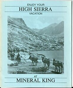 Mineral King CA  Pack Station High Sierra Vacations Booklet 1986