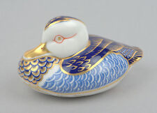 Early Royal Crown Derby Duck Paperweight * GOLD STOPPER *