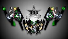 Arctic Cat Firecat Sabercat F5 F6 F7 Graphics Decal Wrap kit Evil Joker Green