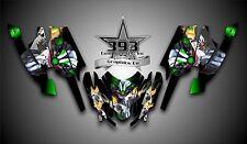 Arctic Cat Firecat Sabercat F5 F6 F7 Graphics Decal Wrap kit Evil Joker Green