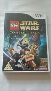 LEGO Star Wars: The Complete Saga Nintendo (Wii, 2007) complete FREE SHIPPING